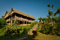 Ecological lodge in amazon rainforest, Yasuni Royalty Free Stock Photo