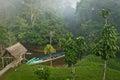 Ecological lodge in amazon rainforest, Yasuni Royalty Free Stock Photo