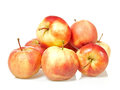 Ecological red apples isolated on white Royalty Free Stock Photo