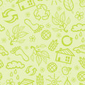 Ecological seamless pattern background vector with hand drawn elements Royalty Free Stock Image