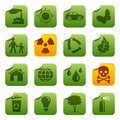 Ecological stickers Royalty Free Stock Photos