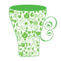 Ecological symbol  cup Stock Image