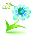 Ecological symbol with mother Earth Royalty Free Stock Photos