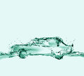Ecologically friendly water car a green made of to symbolize anti pollution technologies and environmentally cars Royalty Free Stock Photo