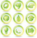 Ecology buttons Stock Photos