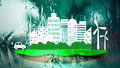 Ecology city in fresh nature background