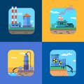 Ecology concept vector icons set for environment illustration Royalty Free Stock Photography