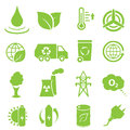 Ecology and environment icons Stock Images