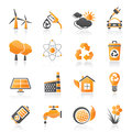 Ecology environment and recycling icons vector icon set Stock Photography