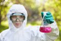 Ecology and environmental pollution. Royalty Free Stock Photo