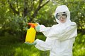 Ecology and environmental pollution. Insecticide. Royalty Free Stock Photo