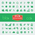 Ecology flat icon set vector illustration eps Royalty Free Stock Image