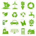 Ecology icon set eco friendly green icons Royalty Free Stock Images
