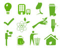 Ecology icon set eco friendly green icons Stock Photo