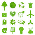 Ecology icon set eco friendly green icons Royalty Free Stock Photography