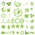 Ecology icon set. Eco-icons Stock Image