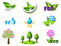Ecology icon set. Eco-icons. Royalty Free Stock Photo