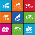 Ecology icon set eco icons packing and a of that can be used in all kinds of natural products Stock Photos