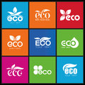 Ecology icon set eco icons packing and a of that can be used in all kinds of natural products Royalty Free Stock Images
