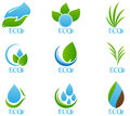 Ecology icon set illustration of isolated on white background Royalty Free Stock Photography