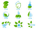 Ecology icon set 02 Royalty Free Stock Photo