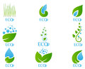 Ecology icon set 03 Royalty Free Stock Photo
