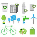 Ecology icon vector on white background Stock Photography