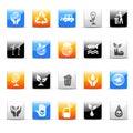 Ecology icons 免版税库存照片