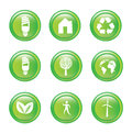 Ecology icons Royalty Free Stock Photography