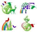 Ecology Icons Royalty Free Stock Photo