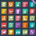 Ecology icons - flat design