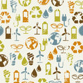 Ecology icons over beige background illustration Royalty Free Stock Image