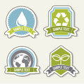 Ecology icons over beige background illustration Royalty Free Stock Photo