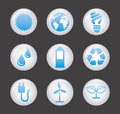 Ecology icons over gray background illustration Royalty Free Stock Photo