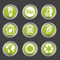 Ecology icons over gray background vector illustration Royalty Free Stock Photo