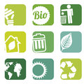 Ecology icons over white background vector illustration Stock Photo