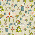 Ecology icons pattern Stock Images
