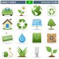 Ecology Icons - Robico Series Royalty Free Stock Photo