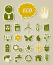 Ecology icons set Royalty Free Stock Photography