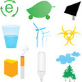 Ecology icons set Stock Photography