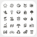 Ecology icons set eps dont use transparency Stock Image