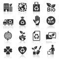 Ecology icons set. Royalty Free Stock Photo