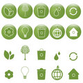 Ecology icons set - vector Royalty Free Stock Photo