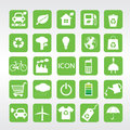 Ecology icons set vector eps Stock Photos