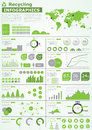 Ecology info graphics collection Royalty Free Stock Photo