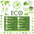 Ecology info graphics collection Stock Image