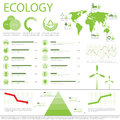 Ecology info graphics collection Royalty Free Stock Image