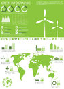 Ecology info graphics collection Royalty Free Stock Images