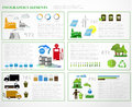 Ecology info graphics collection charts symbols graphic vector elements Royalty Free Stock Image