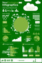 Ecology infographics energy elements energetic industry design icons Stock Photography